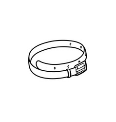 leather belt hand drawn sketch icon vector image