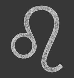 Leo zodiac sign line art vector