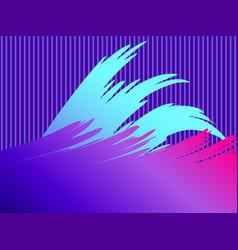 liquid wave violet gradient modern trend vector image