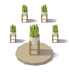 low poly plant vector image