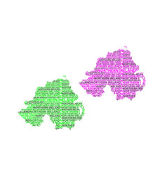 map of northern ireland vector image