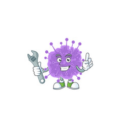 Mascot design coronavirus influenza mechanic vector