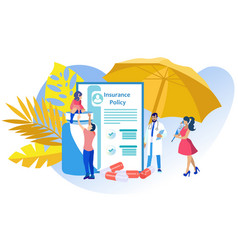 Medical insurance policy vector