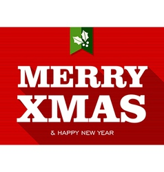 Merry Christmas happy new year sign vector image