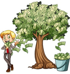 Money grows on tree vector image