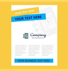 Money through smartphone title page design for vector