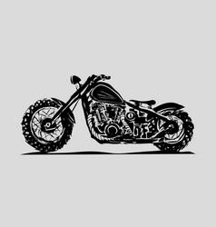 Motorcycle emblem biker club vintage style vector