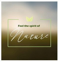 natures spirit background vector image