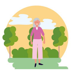 old woman avatar vector image