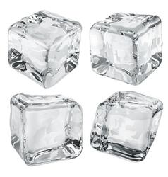 Opaque gray ice cubes vector