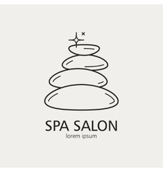 Outline logo with the image of stones for spa vector