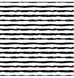 Painted striped pattern from brush strokes vector