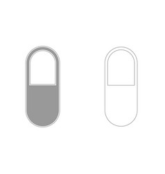 pill grey set icon vector image