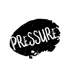 Pressure rubber stamp vector