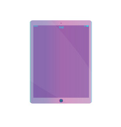 purple ultraviolet realistic tablet pc computer vector image