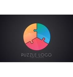 Puzzle circle logo puzzle logo Creative logo vector