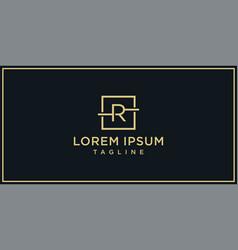 r elegance logo vector image
