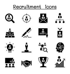 Recruitment career job icon set graphic design vector