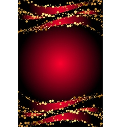 red background gold snowflakes vector image