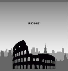 Rome cityscape vector