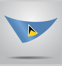 Saint lucia flag background vector