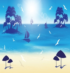 Sand beach small islands vector