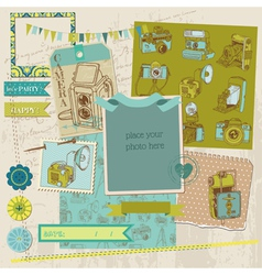 Scrapbook Design Elements - Vintage Photo vector image