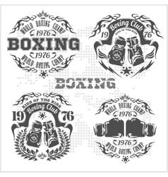Set of vintage boxing emblems labels badges vector image
