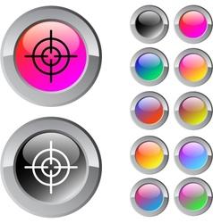 Sight multicolor round button vector image