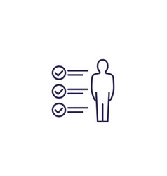 Skills icon on white line vector