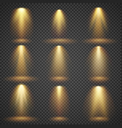 Sunlight glowing yellow lights glow vector