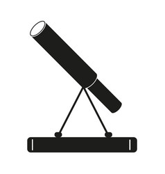 Telescope sign black icon on vector
