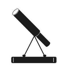 telescope sign black icon on vector image