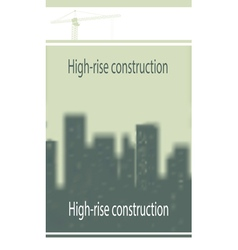 template on construction subject vector image