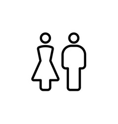 Thin line female male icon vector