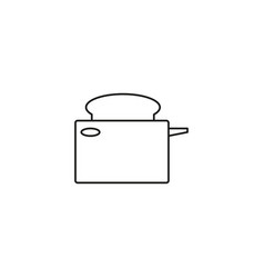 toaster line icon vector image