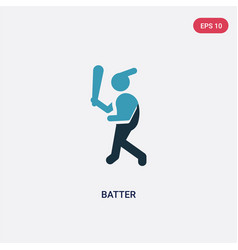 Two color batter icon from sports concept vector
