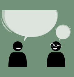 two man friends talking and agree with each other vector image