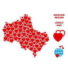 Valentine moscow oblast map collage of vector