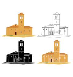 vera cruz church in front view vector image