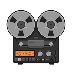 Vintage Analog Stereo Reel Deck Tape Recorder vector image vector image