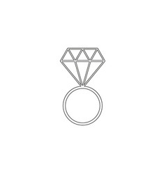 Wedding ring icons it for celebration married vector