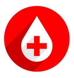 white drop icon first aid donate sign vector image