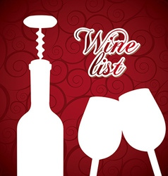 wine design vector image