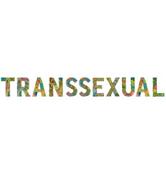 Word transsexual with a pattern in tribal indian vector