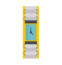 Wristwatch woman icon flat style vector