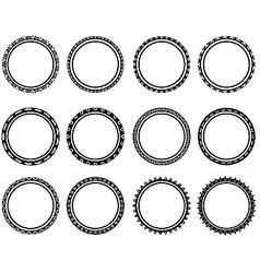 Beautiful black and white circle vector image