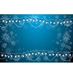 Christmas Card with Neon Light Bulbs vector image
