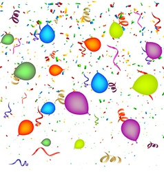 Confetti with Balloons Background vector image vector image