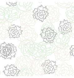 Romantic rose and peonies seamless pattern vector image